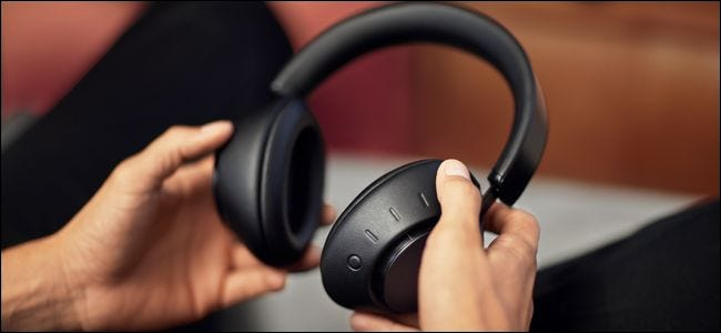 Dolby Dimension Headphones device switching buttons.