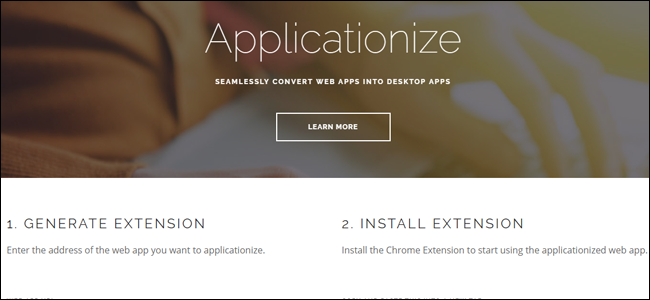 Applicationize,me website.