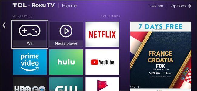 TCL Roku TV interface