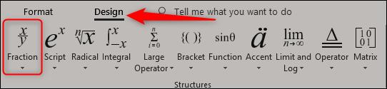 insert fraction