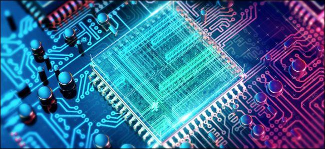 CPU on a circuit board