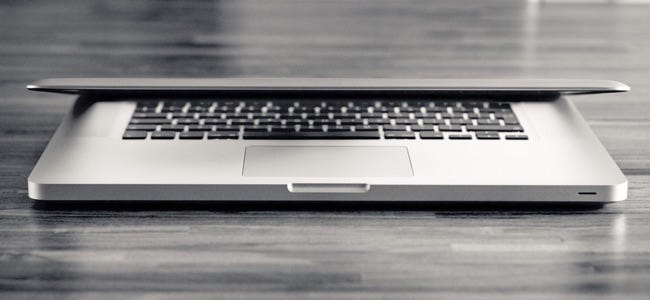 Black and white Macbook