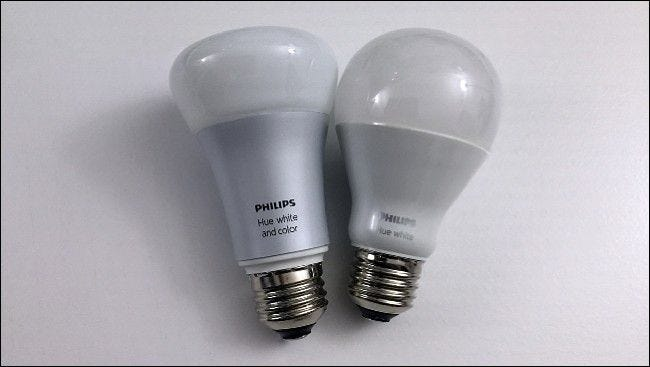 two Philips hue bulbs