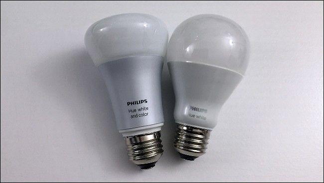 two Philips hue bulbs