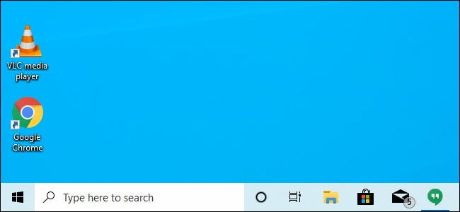 Cortana and the search bar separated on the taskbar