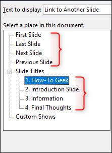 slide titles