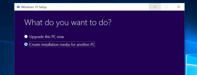 windows 10 setup dialog