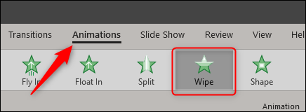 wipe animation