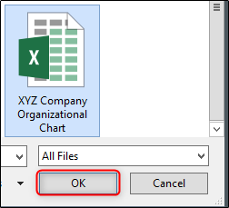Browse PC for excel file