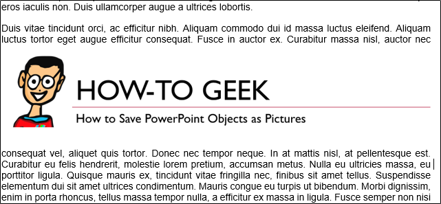 Insert PowerPoint image in Word