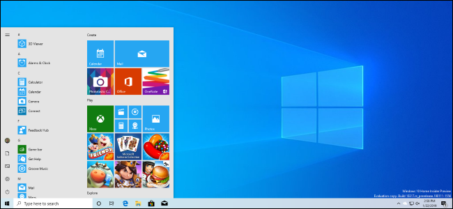 407958aa0f1fda A Windows 10 desktop featuring the April 2019 Update s new light theme