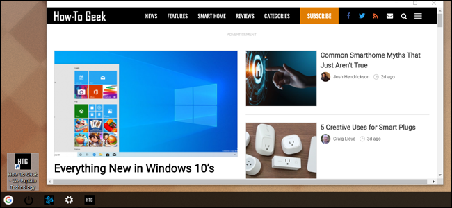 The shortcut opens up the page in a Chrome window with no interface.