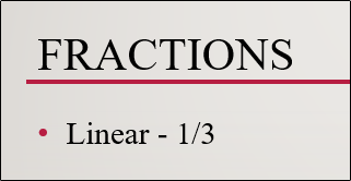 linear fraction structure typed