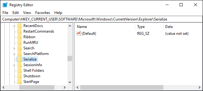 """Click the """"Serialize"""" key."""
