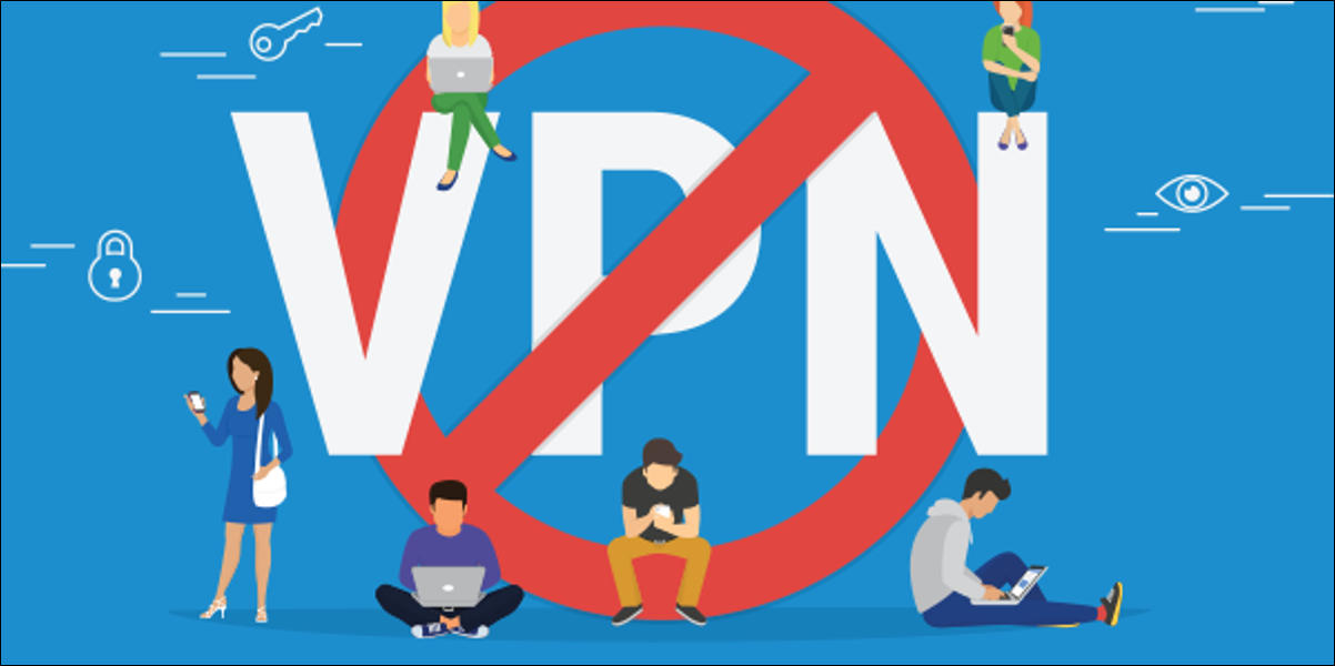 anti-VPN picture with disappointed cartoon people