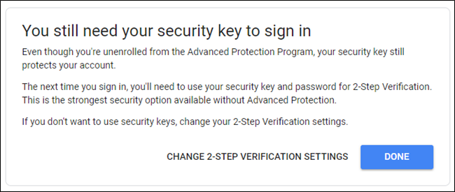 You'll still need your security keys to log in