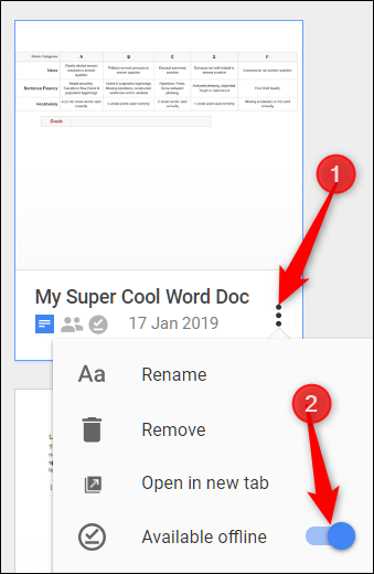 How to Use Google Docs Offline