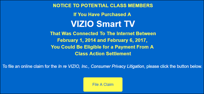 How to Get Settlement Money If You Bought a Vizio Smart TV
