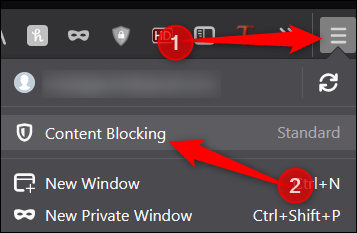 Open Content Blocking settings
