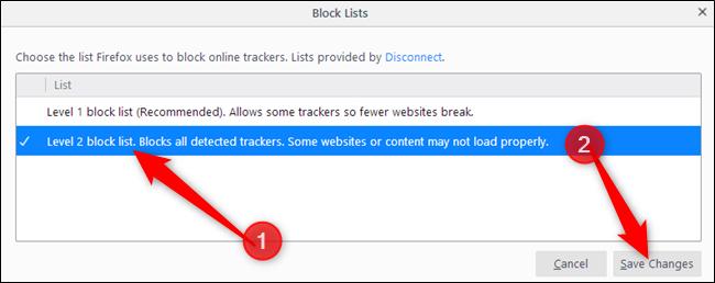 Select a Block List