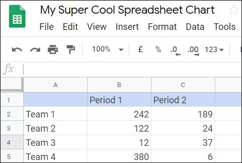 Open a Spreadsheet