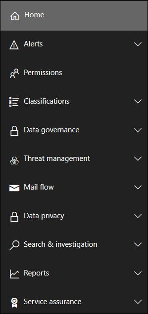 Teh Security and Compliance Admin center