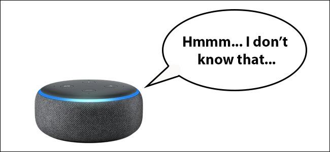 "An Echo dot saying ""Hmmm... I don't know that"""
