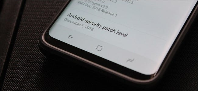Samsung Galaxy S9 security patch date