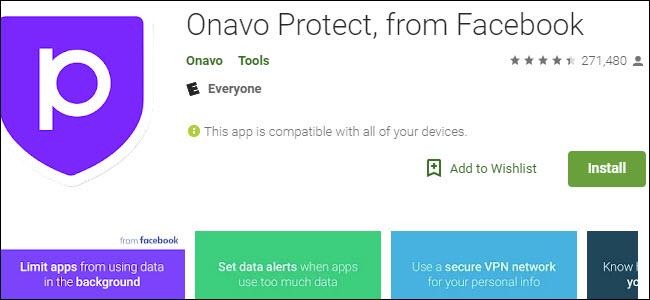 Onavo Protect Google Play listing