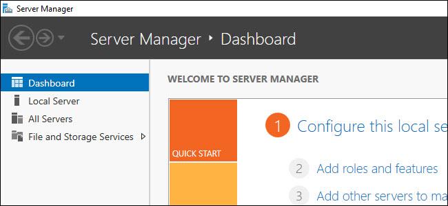 Windows Server Manager Dashboard
