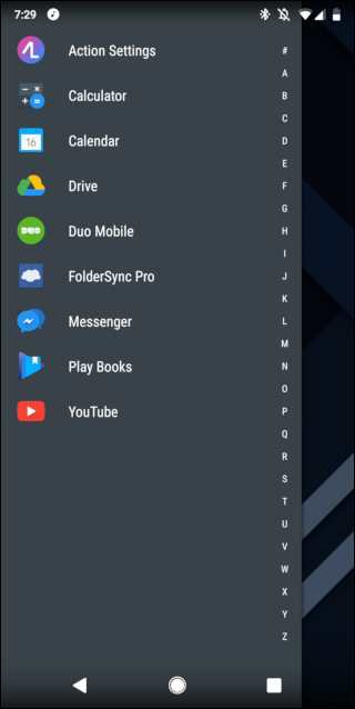 quickdrawer showing on screen