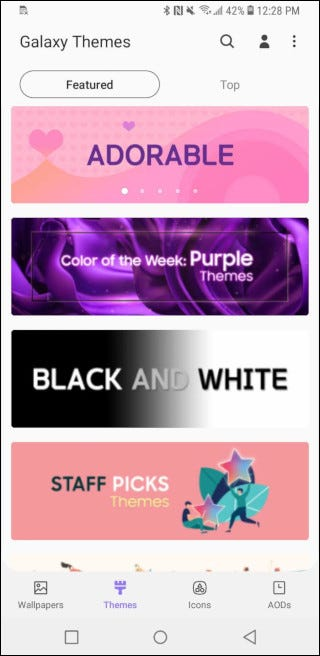 themes on the play store