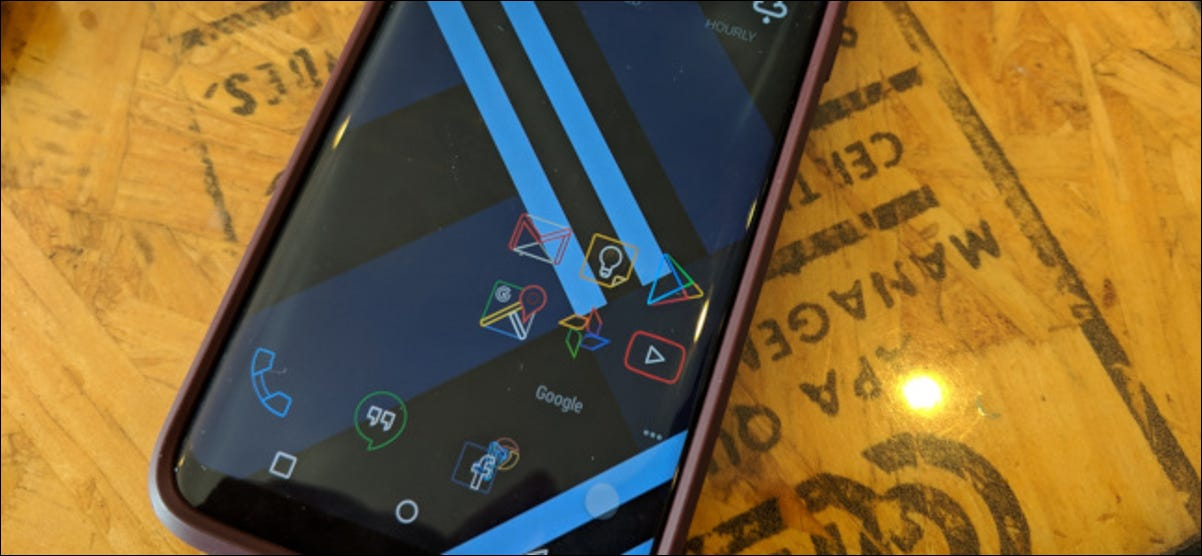 Android phone showing custom launcher