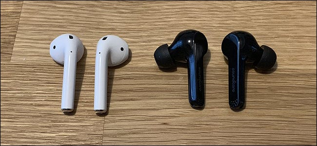 AirPods and Anker's Soundcore Liberty Air headphones