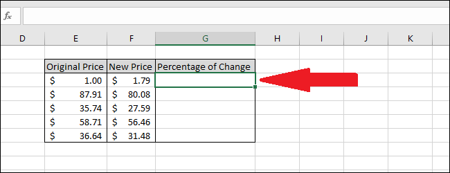 How to Find the Percentage of Difference Between Values in Excel