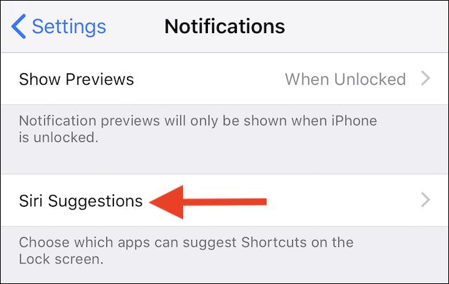 Click Siri Suggestions