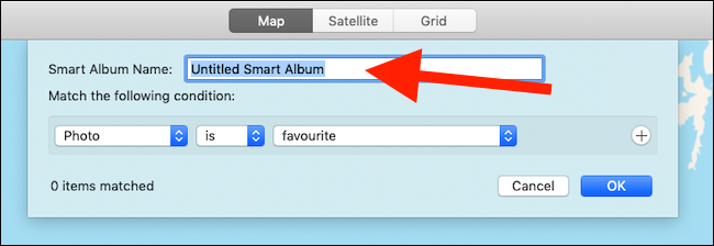 Enter a name for your smart folder