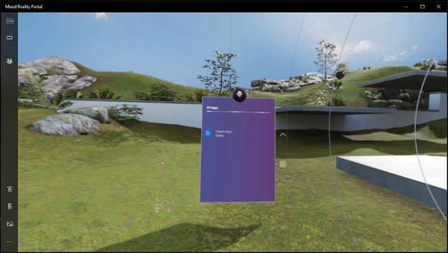 Desktop app running in Windows Mixed Reality