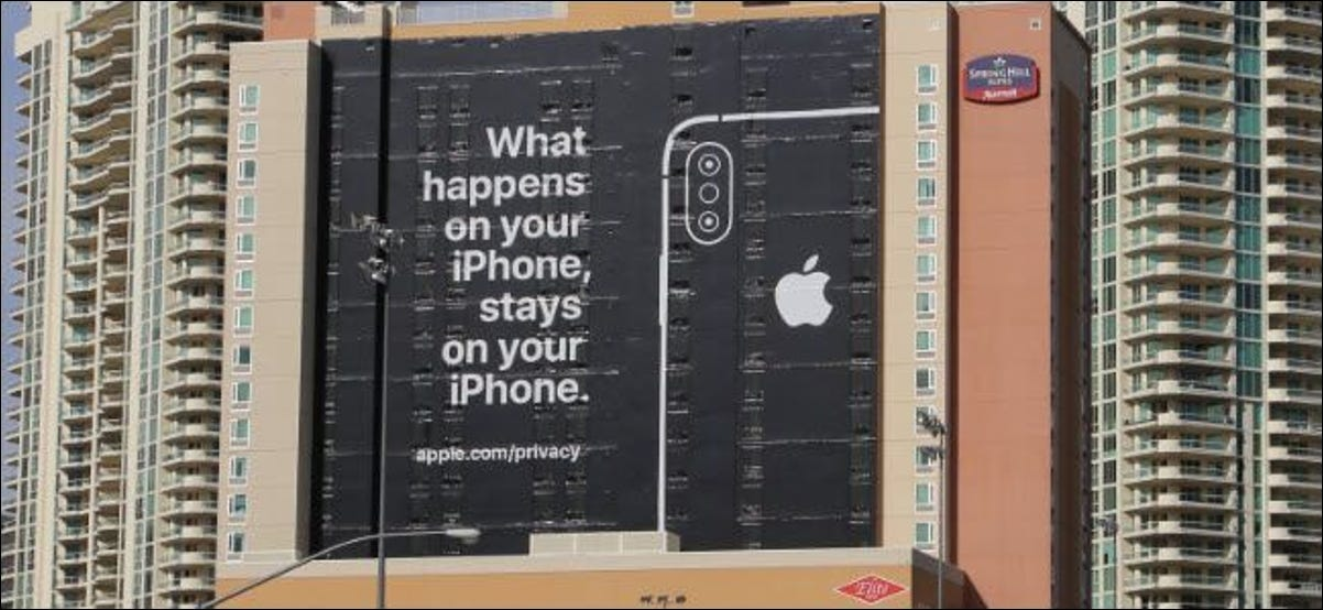 Apple's iPhone privacy advertisement at CES 2019