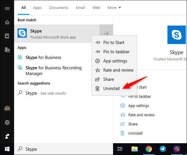 How to Remove Skype From the System Tray on Windows 10