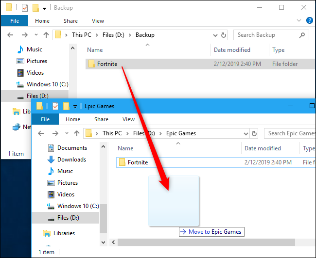 How To Move Fortnite To Another Folder Drive Or Pc