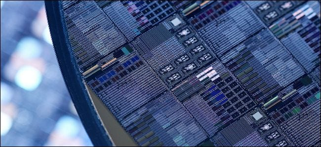 die shot of CPUs