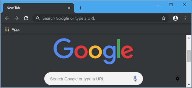 Google Chrome dark mode on Windows 10