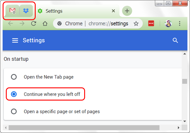 Make Google Chrome Open with Pinned Tabs