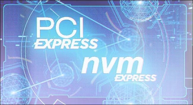PCI Express and NVM express logos
