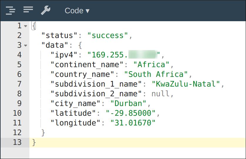 metadata showing location information