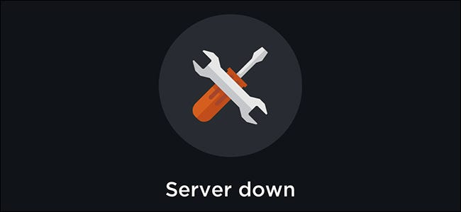 Server down message