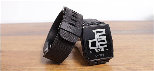 The first generation fitbit and pebble watches