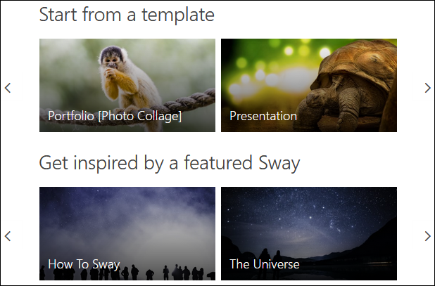 A list of Sway templates