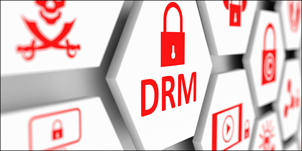 hexagons with icons related to DRM